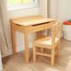 Lift-Top Desk & Chair - Honey