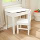 Lift-Top Desk & Chair - White
