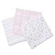 Pink Floral Swaddling Blankets (3 pack)
