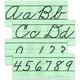 Large Cursive Alphabet Set (no pictures)