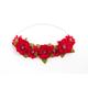 Ruby Red Flower Headband