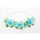 Teal Flower Headband