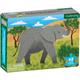 African Elephant Mini Puzzle (48 pieces)