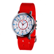 EasyRead 24 Hour Watch - Red & Blue Face, Red Strap