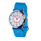 EasyRead 24 Hour Watch - Red & Blue Face, Light Blue Strap