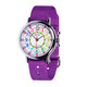 EasyRead 24 Hour Watch - Rainbow Face, Purple Strap