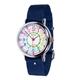 EasyRead 24 Hour Watch - Rainbow Face, Navy Blue Strap