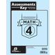 Math 4 Assessments Answer Key 4th Edition