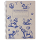 Dogs and Bubbles Decomposition College-Ruled Book (7.5