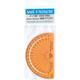 Safe-T Protractor - Orange (4in/180*)