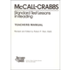 McCall-Crabbs Standard Test Lessons Reading Answer Key