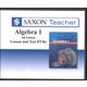 Saxon Teacher for Algebra 1 4th Edition DVDs