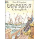 Exploration of North America Coloring Book