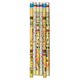 Pharaonic Pencils With Eraser (Set of 6)
