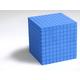 Base Ten Decimeter Cube (Blue)