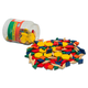 Set of 250 Wooden Pattern Blocks (1 cm thick) in jar
