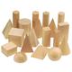 Wooden Geometric Solids 19 pc. Set