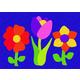 Flowers Crepe Rubber Puzzle (23 pcs.)