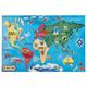 World Map Floor Puzzle