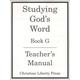 Studying God's Word Book G Teacher Manual