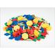 Set of 250 Plastic Pattern Blocks (1 cm thick)