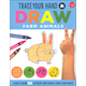 Trace Your Hand and Draw: Farm Animals