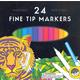Fine Tip Markers - Set of 24