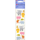 Chubby Jungle Animals Stickers - 3 Sheets