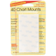 Removable Chart Mounts - 40 count (1