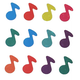 Prismatic Musical Notes