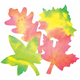 Color Diffusing Paper Leaves 9