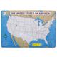 Unlabeled U.S. Practice Maps Pad