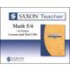 Saxon Teacher for Math 5/4 (3rd Edition) CD-ROM Set