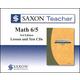 Saxon Teacher for Math 6/5 (3rd Edition) CD-ROM Set