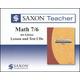 Saxon Teacher for Math 7/6 (4th Edition) CD-ROM Set