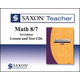 Saxon Teacher for Math 8/7 (3rd Edition) CD-ROM Set
