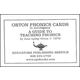 Orton Phonics Cards to Accompany A Guide to Teaching Phonics