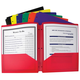 3-hole Punched Poly Portfolio (Assorted Colors)