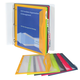 Binder Pockets with Write-On Tabs 5each Letter Size (Assorted Colors)