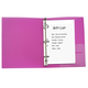 Mini Binder Filler Paper, Ruled, White, 50-Pack 5 1/2