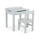 Lift-Top Desk & Chair - Gray