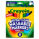 Crayola Ultra-Clean Washable Board Markers - Classic, 8-count