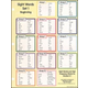 Sight Words in Flash Notebook Chart 1