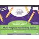 Multi-Program Handwriting Tablet D'Nealian (1) / Zaner-Bloser (2)  - 1/2