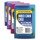 Poly Index Card Case for 4 x 6 cards - Assorted Colors