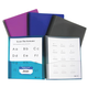 8 Pocket Poly Portfolio Clear View, Spiral Bound Assorted Color
