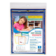 Reusable Dry Erase Pockets 9 x 12 Assorted Primary Colors (5 Pack)