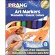 Prang Art Markers Washable Set 8 Color