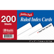 Ruled White Index Cards (3