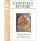 Christian Studies Bk I Teacher Manual 2nd Ed